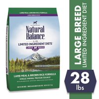 Natural Balance Large Breed L.I.D. Limited Ingredient Diets Lamb Meal & Brown Rice Formula Dry Dog Food, 28-Pound