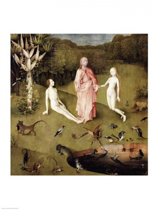 The Garden of Earthly Delights c1500 Detail Poster Print by Hieronymus Bosch