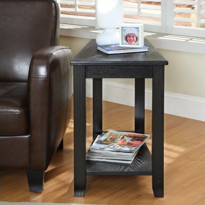 Trent Home Elwell Chair-Side Table in Black