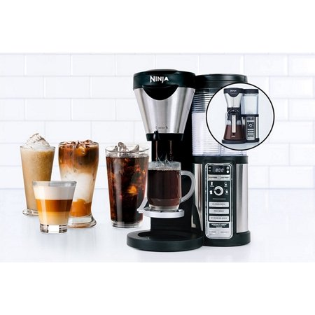Ninja Coffee Maker Deals : Ninja CF080A Coffee Bar Maker Auto-iQ Brewer with Glass Carafe, Black, CF080A (Refurbished ...