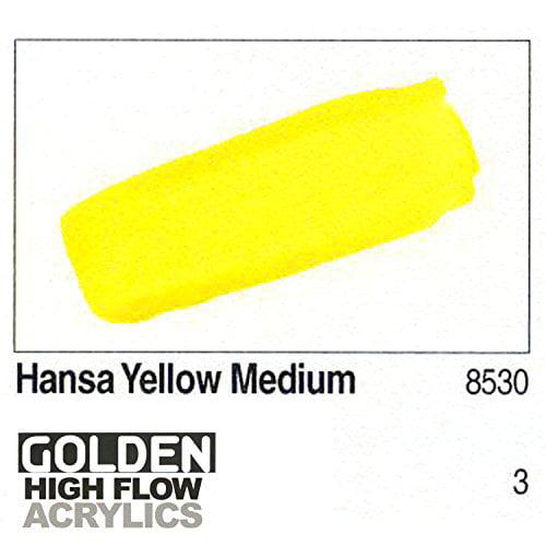 GOLDEN ARTIST COLORS 85301 HIGH FLOW ACRYLIC 1OZ HANSA YELLOW MEDIUM