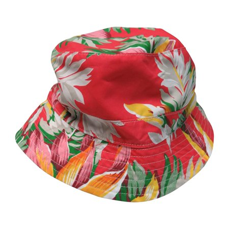 Ralph Lauren Polo Bucket Fishing Hat Floral Print Red, (Ralph Polo Hats)