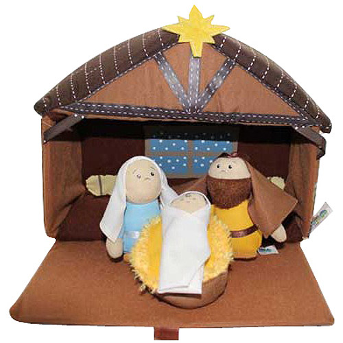 Toy-Plush-Nativity Play Set (4 pcs)