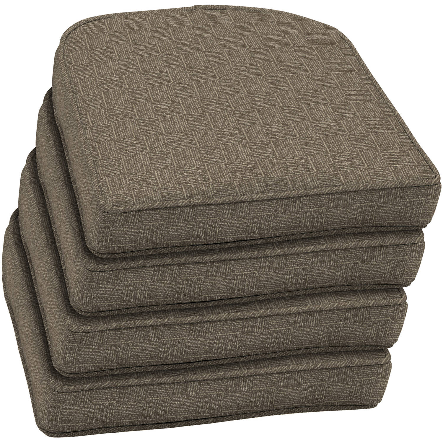 Arden Outdoors Wicker Seat Cushion with Welt, Set of 4