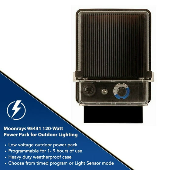 Moonrays 95431 120 watt control box for outdoor low voltage lighting moonrays 95431 120 watt control box for outdoor low voltage lighting with light sensor and raintight case black finish walmart aloadofball Choice Image