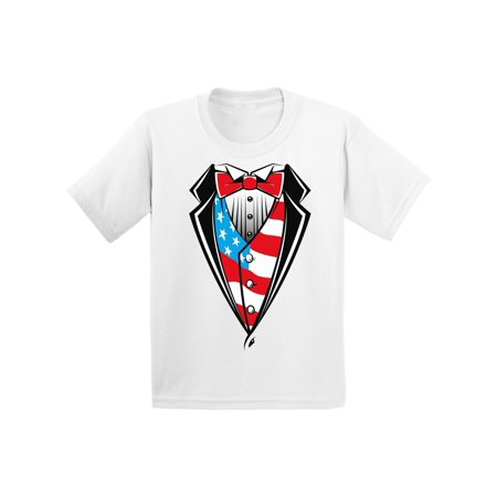 Awkward Styles American Tuxedo Toddler Shirt 4th July Party Patriotic Kids T shirt 4th of July Tshirt for Boys and Girls USA Kids T-shirt 4th of July Shirts for Boys 4th of July Shirts for Girls - 4th Of July Crafts For Toddlers