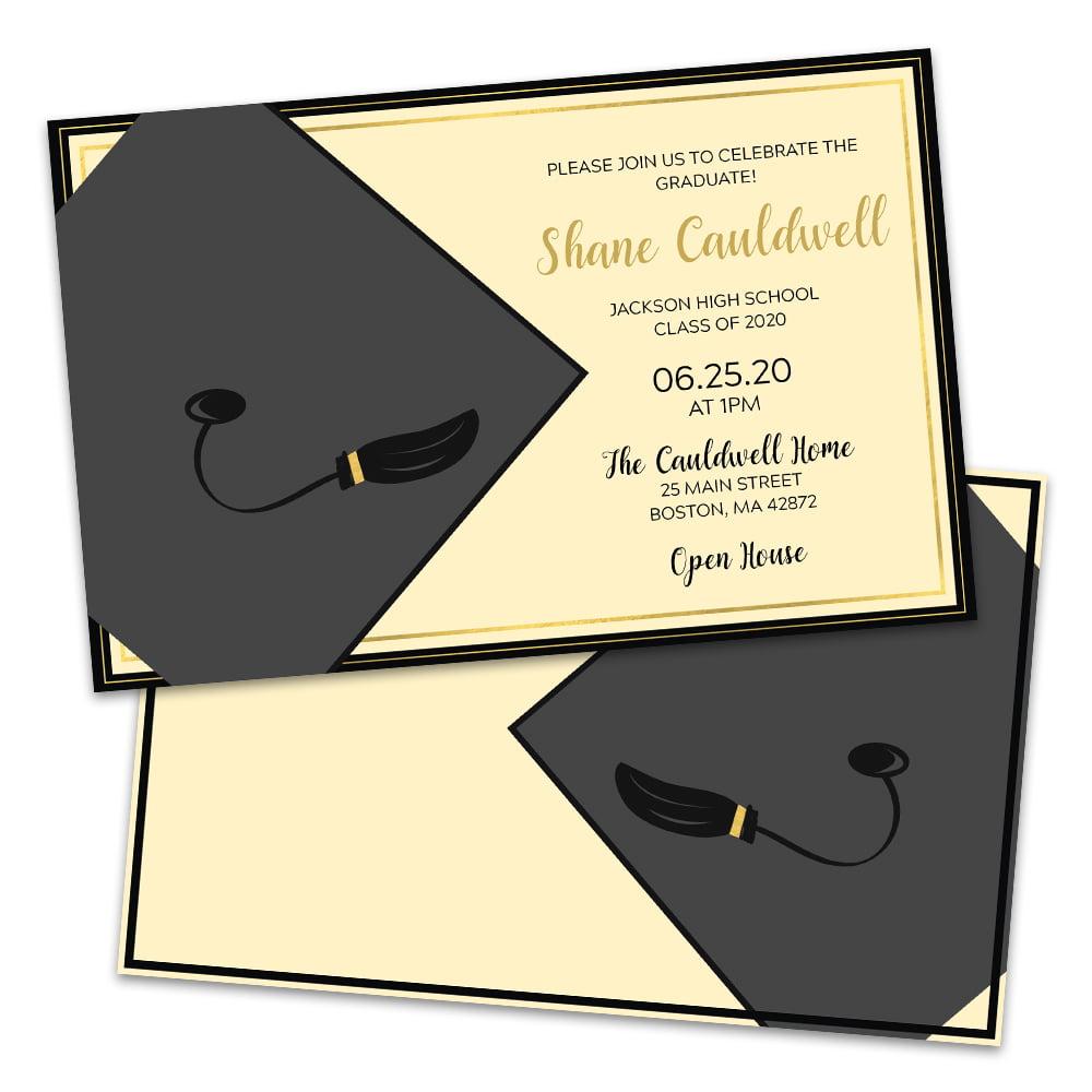 Personalized Graduation Cap Graduation Party Invitation