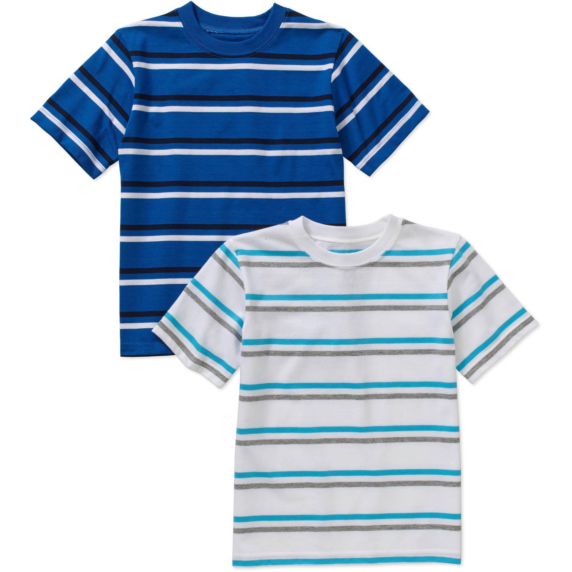 365 Kids From Garanimals Boys' 2 Piece Short Sleeve Stripe Tee Set