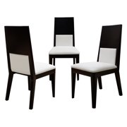 Sharelle Pia Bonded Leather Dining Side Chair - Wenge - Set of 2