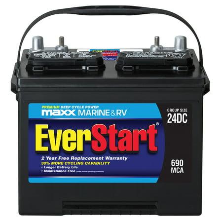 EverStart Maxx Lead Acid Marine/RV Battery, Group 24DC