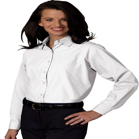 Edwards Garment Women's Long Sleeve Value Broadcloth Shirt, Style 5363