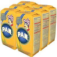 P.A.N. Precooked Yellow Corn Meal 35.7 oz. Pack of 6 (Harina PAN Amarilla)