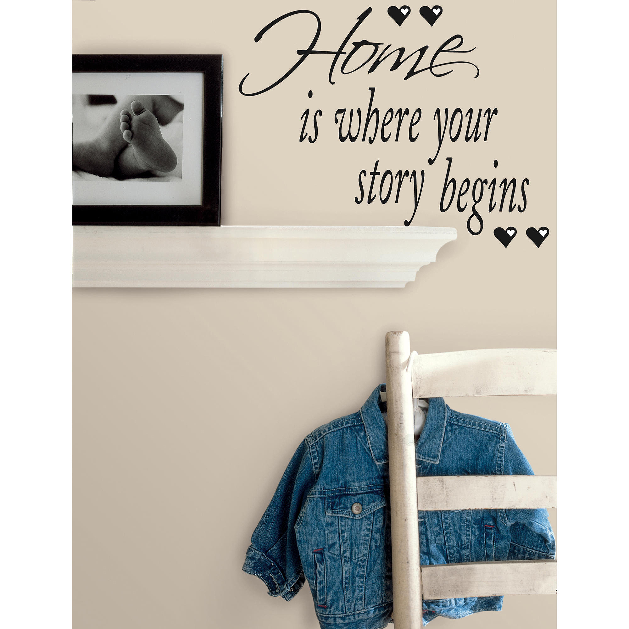 RoomMates Home is Where Your Story Begins Peel & Stick Quotable