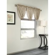 Treasure Faux Silk Window Curtain Valanc