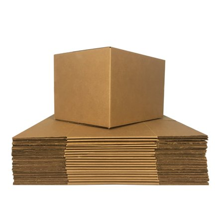 Uboxes Medium Moving Boxes, 18x14x12 in, 10 Pack, Cardboard Box - Round Cardboard Boxes