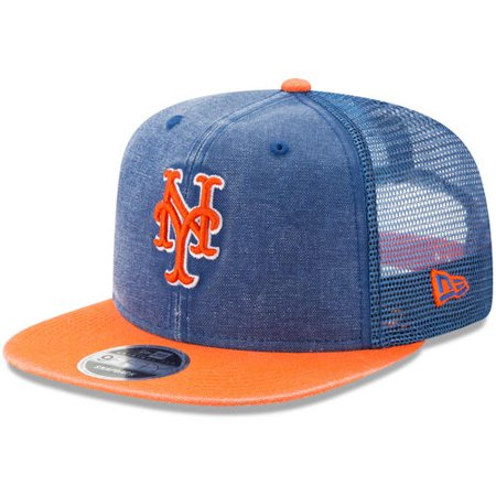 8b415a14d681d Men s New Era Royal Orange New York Mets Rugged Trucker Original Fit ...