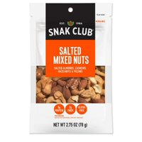 (Price/CASE)Snak Club 1721174 Century Snacks Premium Pack Salted Mixed Nuts 2.75 ounce - 6 Per Case