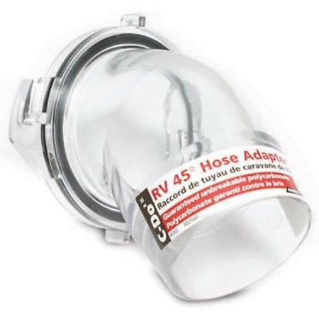 Clear 45 Degree RV Sewer Hose Adapter Know When Your System Is Clean W Only