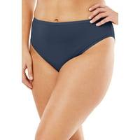 Plus Size Microfiber Bikini Panty By Comfort Choice