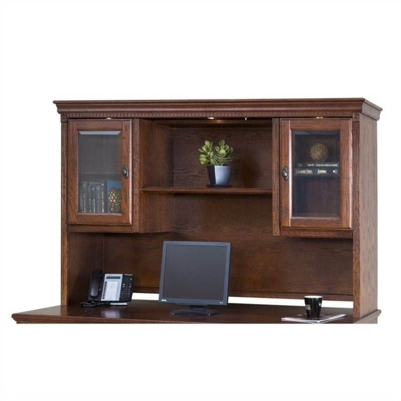 Martin Furniture Huntington Oxford Storage Hutch in Burnish