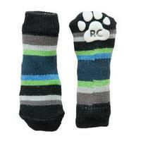 Blue Stripes PAWks Dog Socks Large