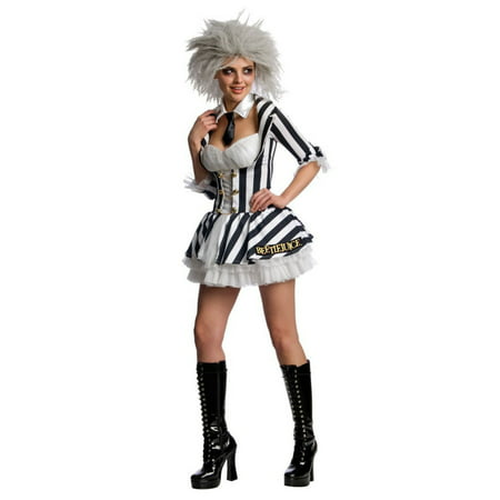 Halloween Beetlejuice Sassy Women's Costume - Make Beetlejuice Costume