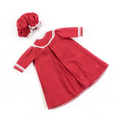 Handmade Eli & Mattie Amish-Made Nightgown & Cap for 18
