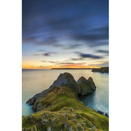 Three Cliffs Bay, Gower Peninsula, Swansea, Wales, United Kingdom, Europe  Print Wall Art By Billy Stock