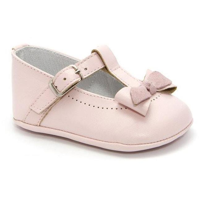 Infant Classic Leather Shoes with Lace for Girls, Pink - Size 3 - image 1 de 1