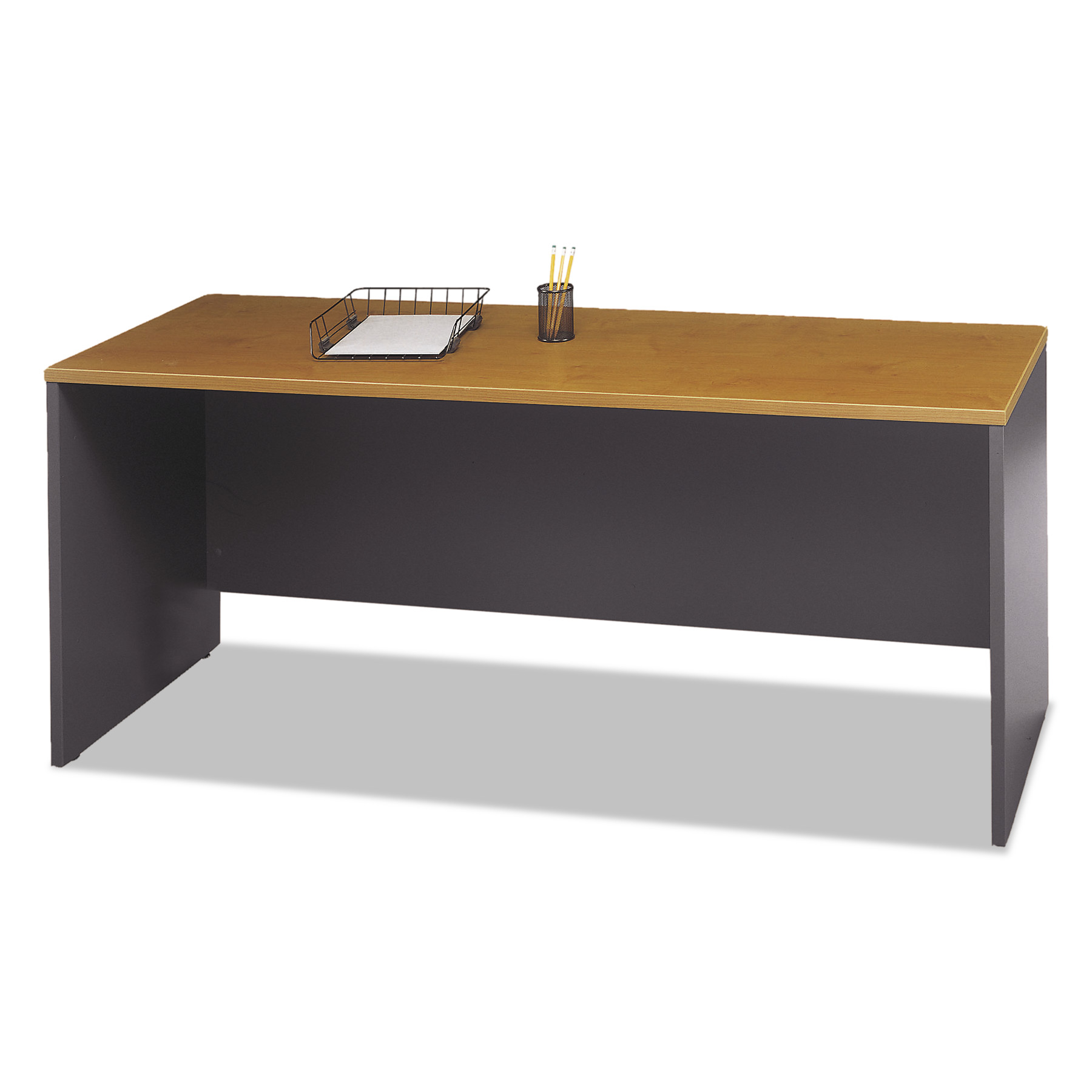 Bush Series C Collection 72W Credenza Shell, Natural Cherry by Bush Industries