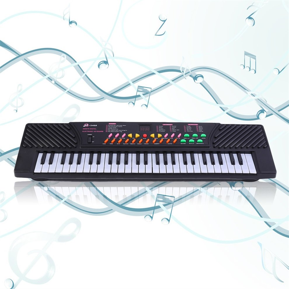 High Quality 54 Key Children's Digital Keyboard Music Piano for Adults Or Children Beginners Electronic W/Mic Organ