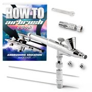 PointZero Dual-Action 2cc Gravity-feed Airbrush 3 Tip Set (.2mm .3mm .5mm)