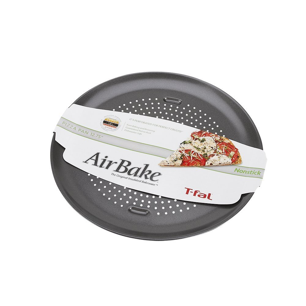 AirBake Nonstick Pizza Pan, 12.75 in 12.75-inch, Ship from USA,Brand T-Fal by
