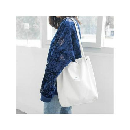 Topumt Women's Corduroy Tote Bags Large Capacity Handbag Casual Shoulder -