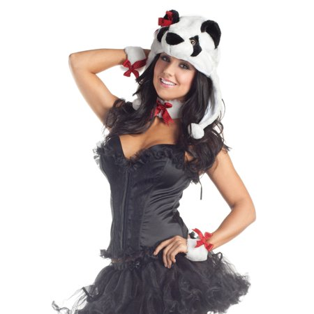 Panda Kit Includes Plush Panda Hat, Coll - Panda Hat