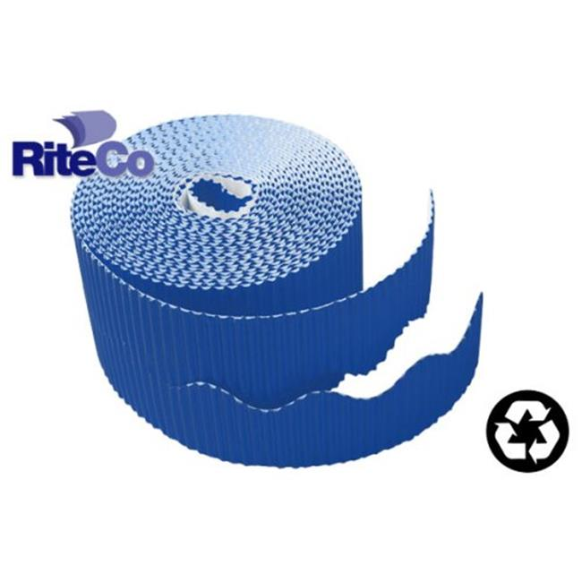 RiteCo Raydiant 22808 Riteco Trim-It Corrugated Scalloped Decorative Border.  Two . 25 inch X 50 Ft.  Strips Per Roll Dark