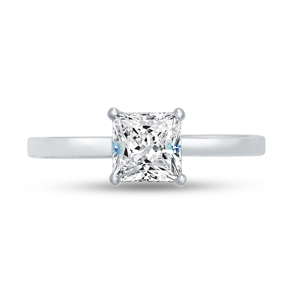 Sterling Silver Classic Solitaire Cross Ring