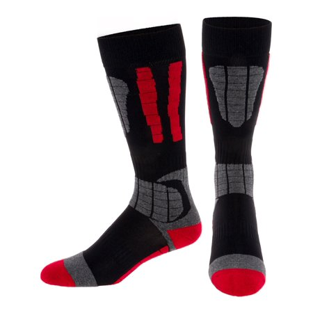(LISH Men's Cold Weather Ski Over The Calf Thermal Padded Snow Socks)