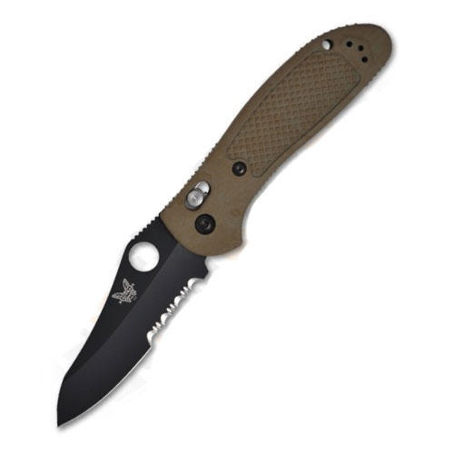 Image of Benchmade 550SBKHGOD Griptilian Combo BK Coated Blade Olive Drab Handle Knife