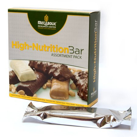 Metabolic Research Center High-Nutrition Bar, Assortment Pack, 15g Protein, 7 Ct ()