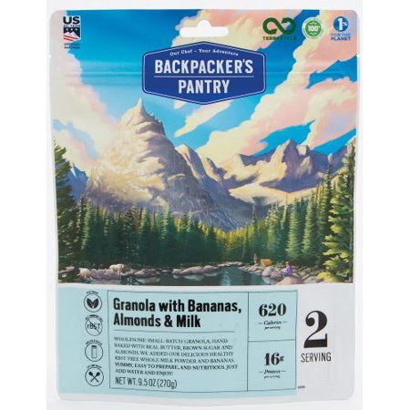 Backpackers Pantry 701007 Granola With Milk & Bananas 2p, Pack of - Backpackers Pantry Granola