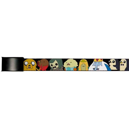 Adventure Time Animated Tv Series Candy Collage Web Belt Chrome