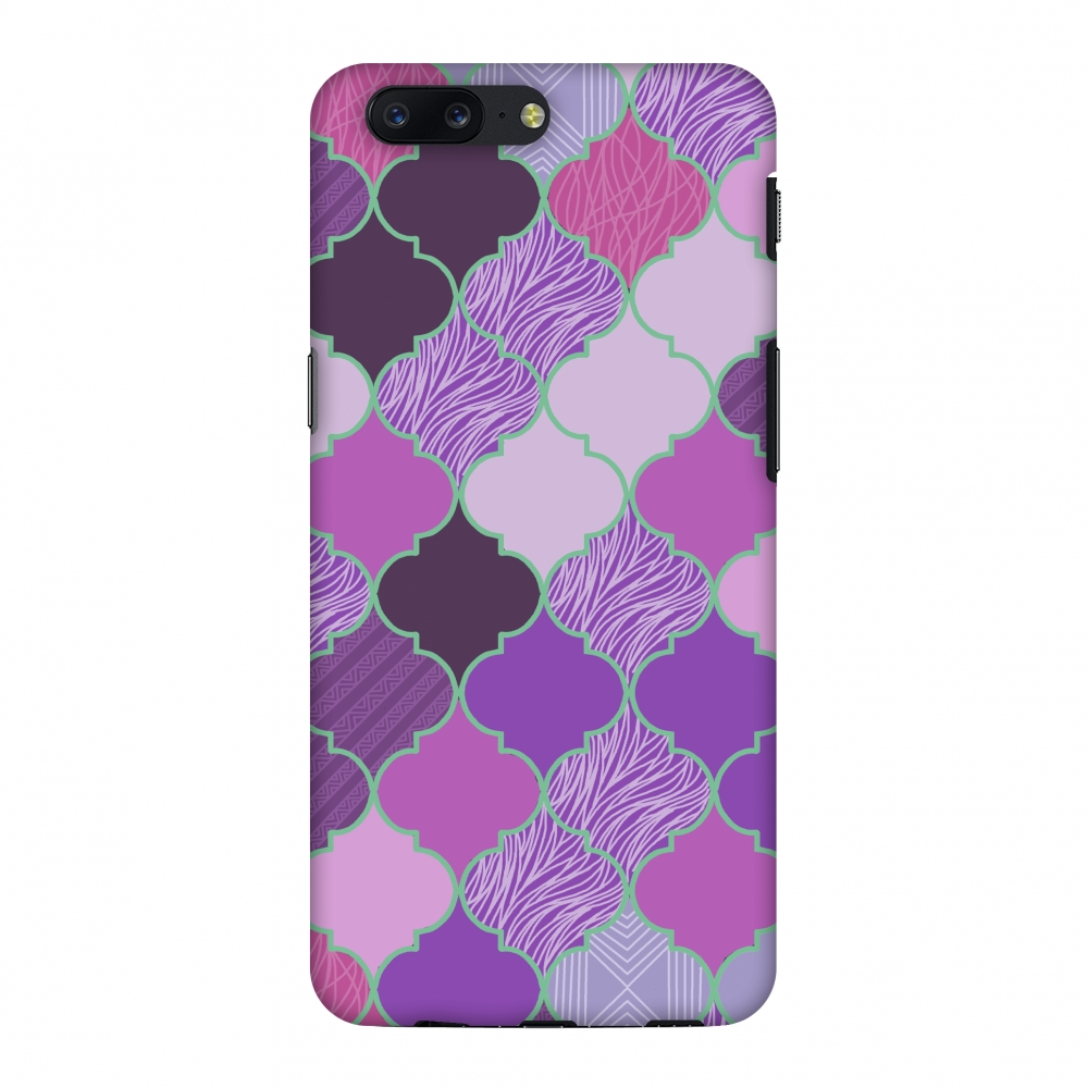 OnePlus 5 Case - Stained glass- Lavender, Hard Plastic Back Cover, Slim Profile Cute Printed Designer Snap on Case with Screen Cleaning Kit