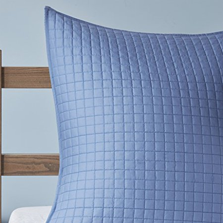 Rochelle 7 Piece Cotton Reversible Coverlet Set King/Cal King/Blue - image 1 of 4