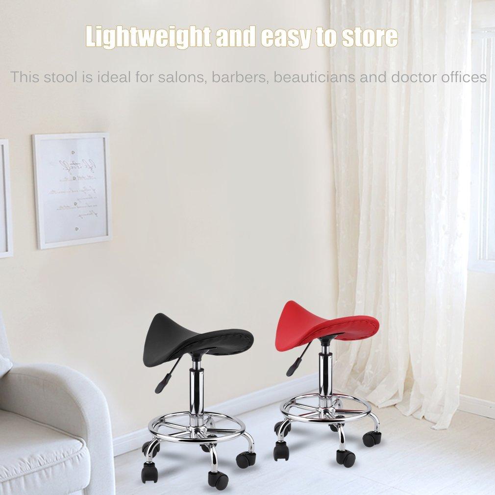 Salon Stool 360 Degrees Swivel Chromed Steel U0026 PU Leather Rolling Chair