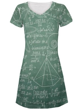 da9bcb4f9e8e7 Product Image Math Geek Formulas Chalkboard All Over Juniors Beach Cover-Up  Dress