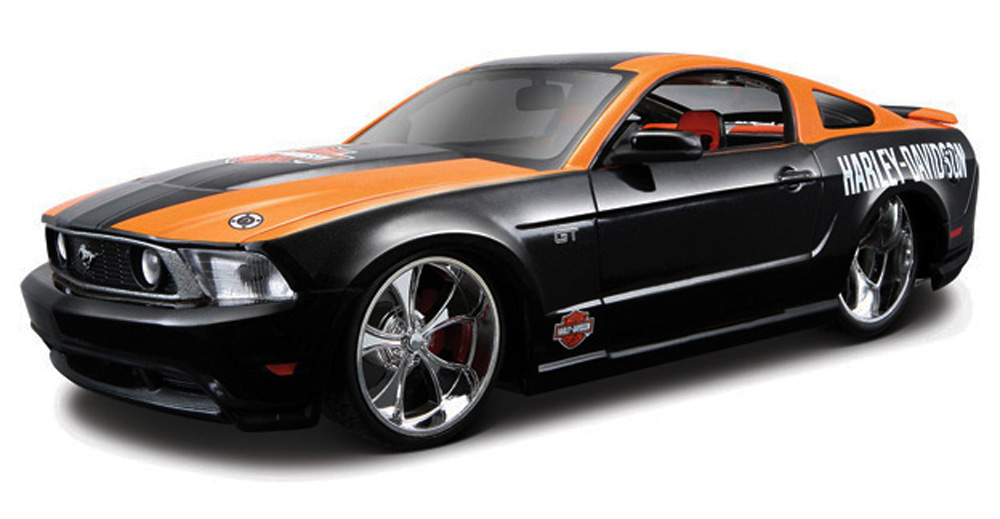 Ford Mustang GT Harley-Davidson, Black & Orange Maisto HD 32170 1 24 Scale Diecast Model... by Maisto