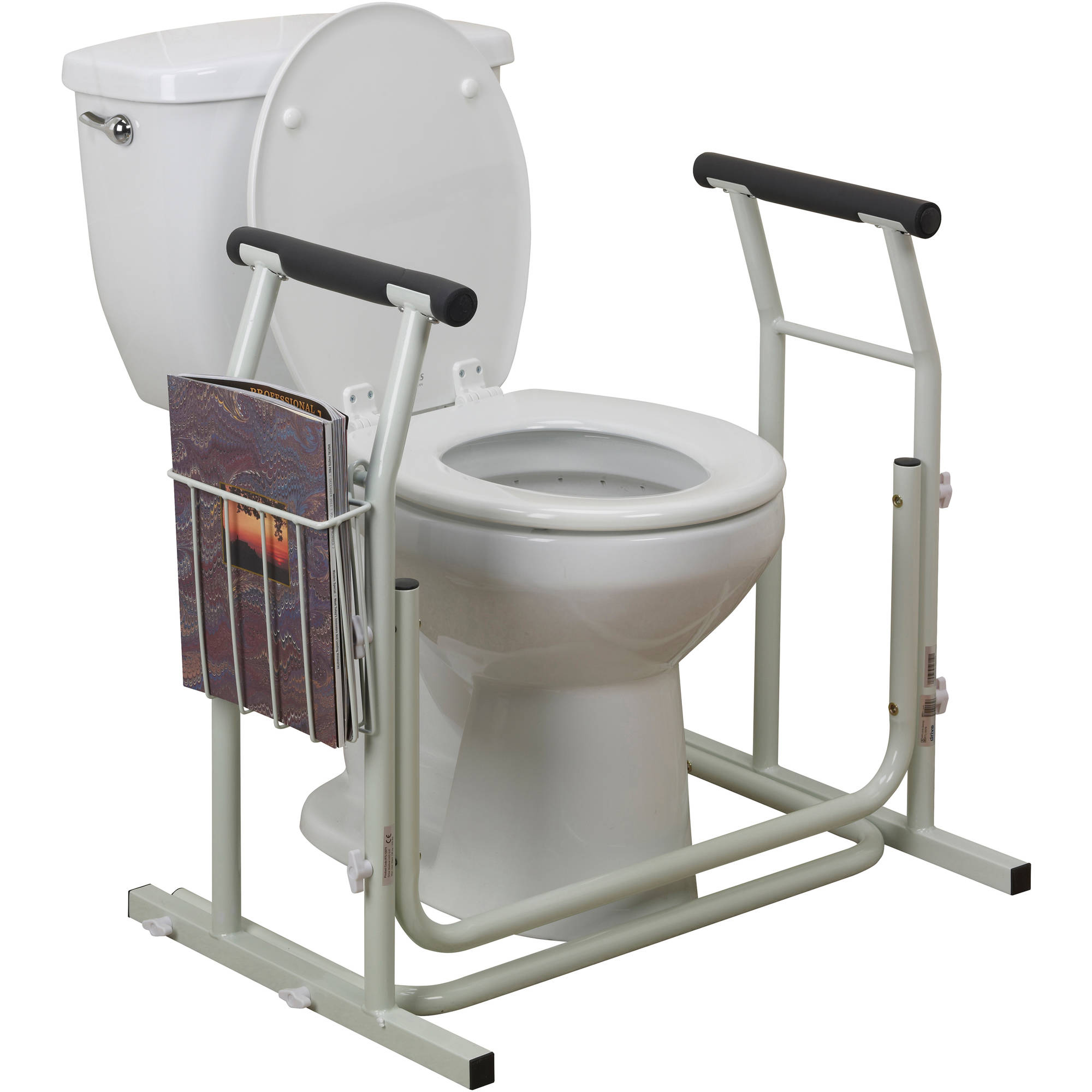 Drive Medical Stand Alone Toilet Safety Rail Walmart