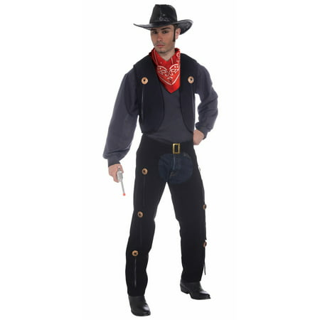 Vest and Chaps Set Costume - Adult Standard (Cowboy Vest Costume)
