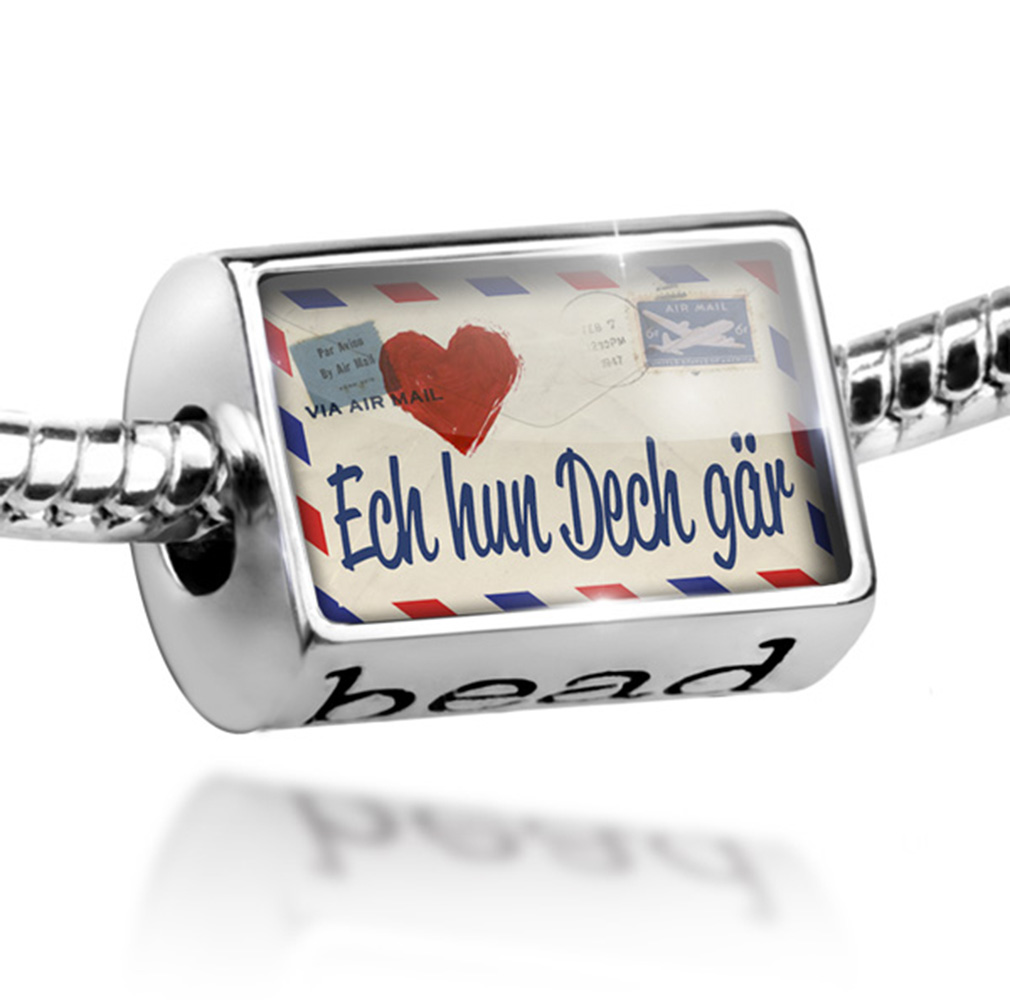 Bead I Love You Luxembourgish Love Letter from Luxembourg Charm Fits All European Bracelets